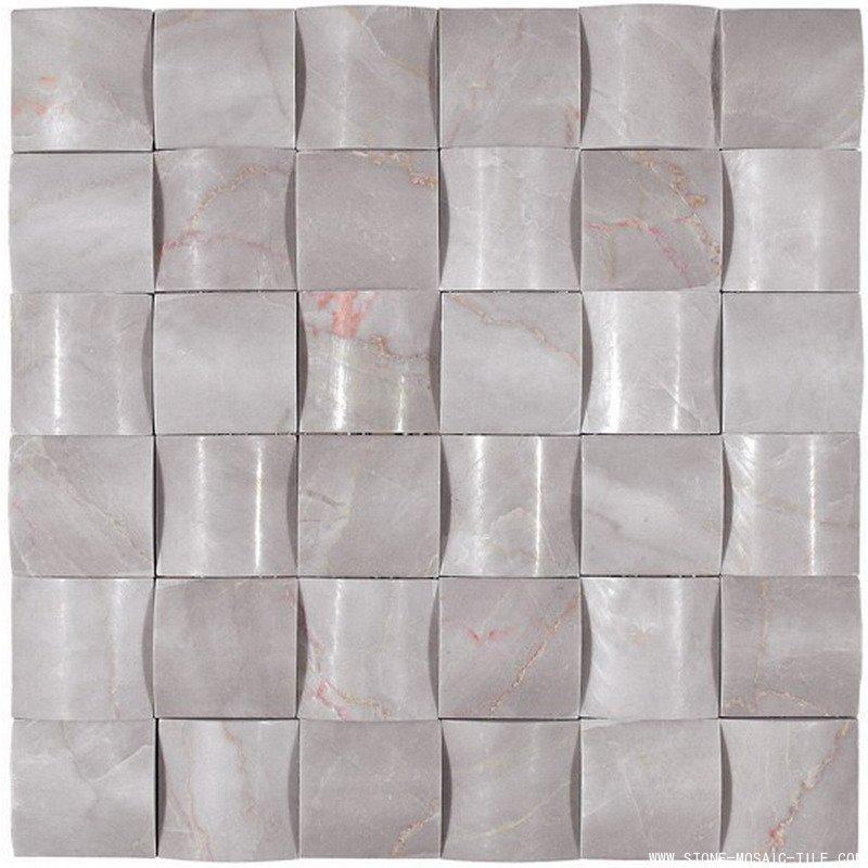 White Onyx Diamond Mosaic Tile