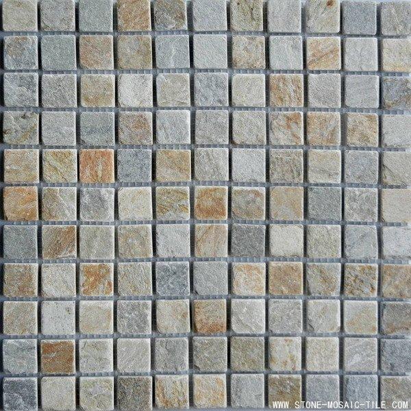 Golden Ray Quartzite Mosaic Tile
